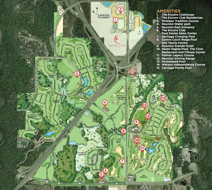 Encore and Reunion Resort Wide Map