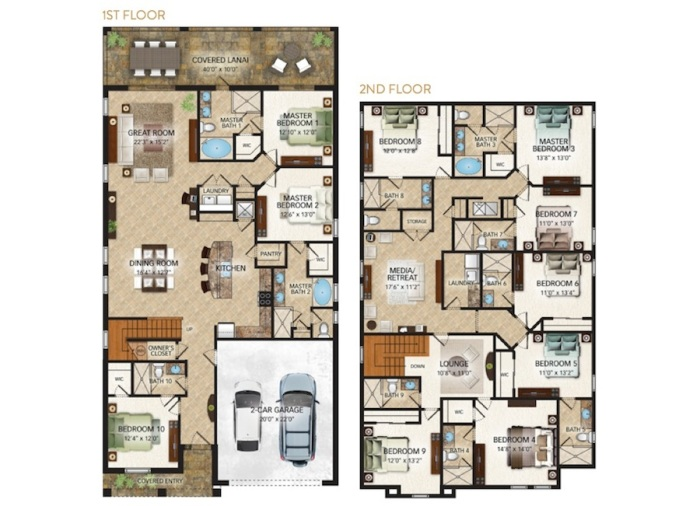 Fremont II 10-bed Floor